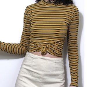 Tops - Mustard stripped long sleeve top